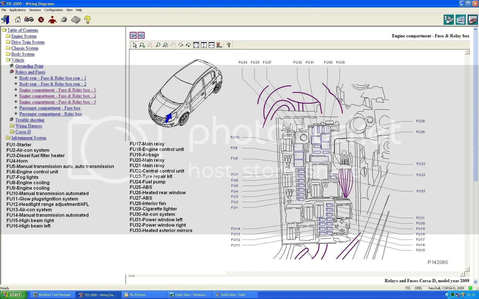 hight resolution of opel corsa utility 1 4 fuse box layout electrical drawing wiring 2001 toyota sienna fuse box