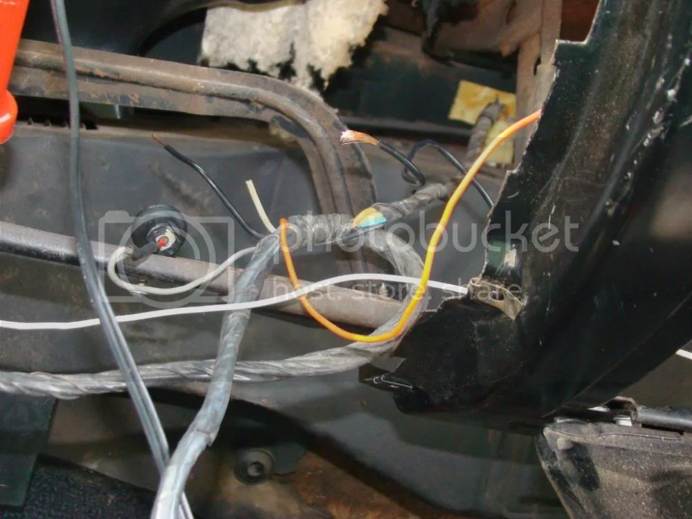 medium resolution of  box we have an orange wire going to the glove box light switch it doesn t have any bulb sockets where the orange wire comes out of the wiring harness
