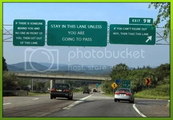 comedy guys defensive driving, with road signs that we'd like to see
