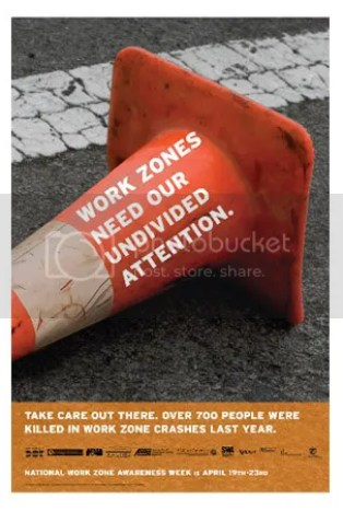 driving safety event: work zone safety week