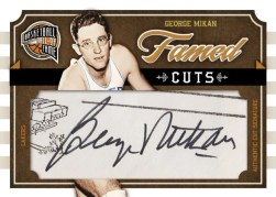 09/10 Panini Hall of Fame Cut Signatures George Mikan
