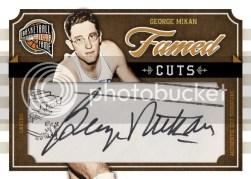 09/10 Panini Hall of Fame Cut Signatures George Mikan