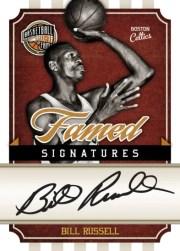 09/10 Panini Hall of Fame Bill Russell Famed Signatures