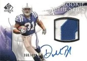 2009 Sp Authentic Donald Brown Patch Auto RC