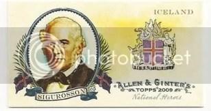 Sigurosson Topps Allen & Ginter