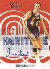 2009/10 Panini Studio Jerry West Heritage Autograph