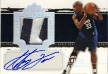 2003/04 UD Noble Nameplate Autograph Antawn Jamison