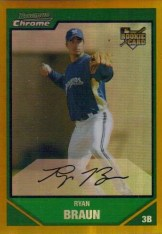 2007 Bowman Chrome Draft Ryan Braun (RC)