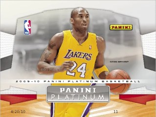 2009/10 Panini Platinum NBA Basketball Box
