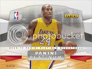 2009/10 Panini Platinum NBA Basketball Box