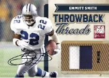 2010 Donruss Elite Throwback Threads Emmitt Smith
