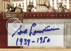 2010 Panini Classics Cut Signatures