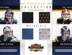 2010 Panini Threads RC Collection Quad Jersey Card