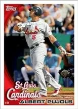2010 Topps Series 1 One Baseball Card Albert Pujols