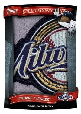 2010 Topps Peak Performance Jumbo Jersey Cards