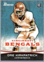 2012 Bowman Dre Kirkpatrick Rookie RC Card