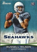 2012 Bowman Russell Wilson Base RC Card