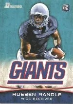 2012 Bowman Rueben Randle Base RC Card
