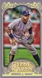 2012 Topps Gypsy Queen Alex Rodriguez Mini