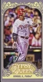 2012 Topps Gypsy Queen Ryan Howard Mini Card
