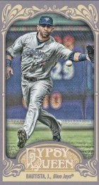 2012 Topps Gypsy Queen Jose Bautista Mini Base