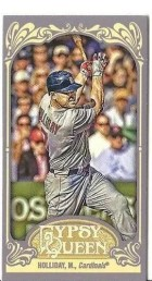 2012 Topps Gypsy Queen Matt Holliday Mini