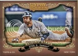 2012 Topps Gypsy Queen Derek Jeter Sliding Stars
