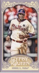 2012 Topps Gypsy Queen Ryan Howard Mini Card Sp
