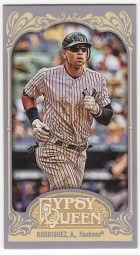 2012 Topps Gypsy Queen Alex Rodriguez Mini Sp
