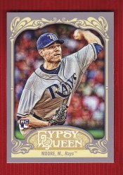 2012 Topps Gypsy Queen Matt Moore Sp Variation RC Card