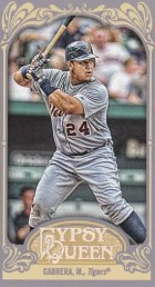 2012 Topps Gypsy Queen Miguel Cabrera Sp Mini