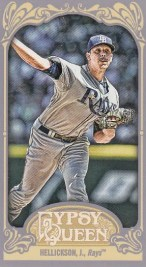 2012 Topps Gypsy Queen Jeremy Hellickson Sp Mini