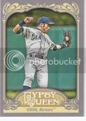 2012 Topps Gypsy Queen Ichiro Sp Variation Card