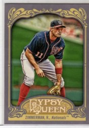 2012 Topps Gypsy Queen Ryan Zimmerman Sp Photo Variation