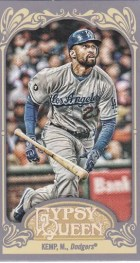 2012 Topps Gypsy Queen Matt Kemp Mini