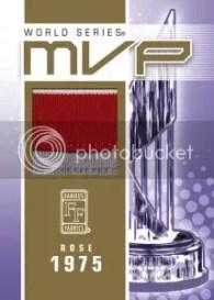 Famous Fabrics Pete Rose MVP