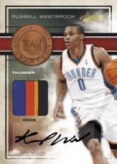 09/10 Panini Absolute Memorabilia Russell Westbrook Heroes Auto Jersey