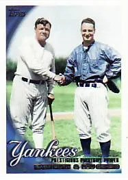 2010 Topps Series 2 Yankees Legacy Card