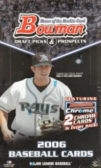 2006 Bowman Chrome Baseball Hobby Box Checklist