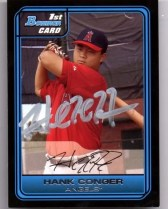 Hank Conger Bowman Rookie Card