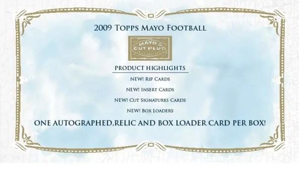 2009 Topps Mayo Football Box