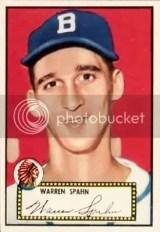 Warren Spahn 1952 Topps #33