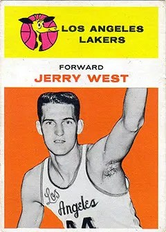 1961/62 Fleer Jerry West Rookie RC Card #43
