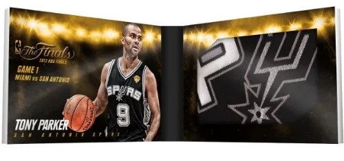 13/14 Panini Preferred NBA Finals Tony Parker Jersey Card