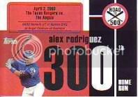 2007 Bowman Chrome Alex Rodriguez Road To 500 #300