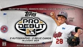 2014 Topps Pro Debut Baseball Box