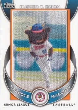 2014 Topps Pro Debut Buster T Bison Patch Card