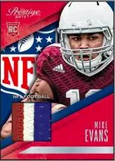 2014 Panini Prestige Mike Evans Jersey Card
