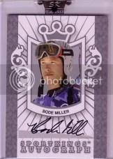 Bode Miller Sportkings Autograph Card