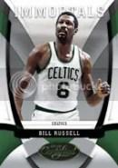 Bill Russell 09/10 Panini Certified Immortals Insert
